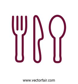 Isolated cutlery line style icon vector design