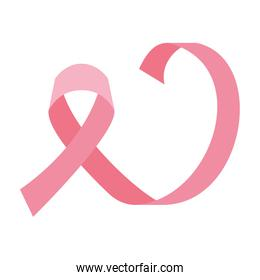 Pink ribbon of world cancer day vector design