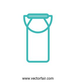 Isolated milk bucket dou color style icon vector design
