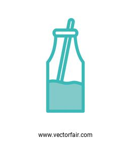 Isolated milk boxes dou color style icon vector design