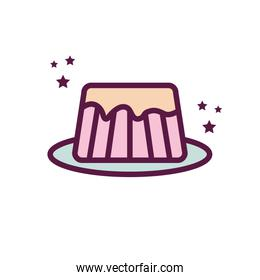 Isolated jelly line and fill style icon vector design