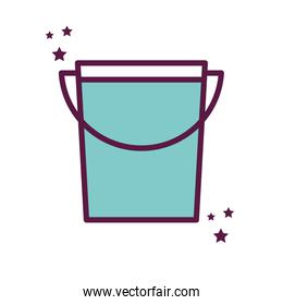 Isolated milk bucket line and fill style icon vector design