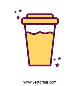 Isolated drink mug line and fill style icon vector design