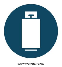 Isolated gas tank block and flat style icon vector design