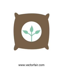 Isolated seeds bag flat style icon vector design