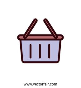 Isolated shopping basket line and fill style icon vector design