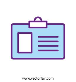Isolated id card line and fill style icon vector design