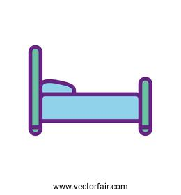 Isolated home bed line and fill style icon vector design