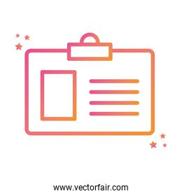 Isolated id card gradient style icon vector design