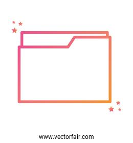Isolated file gradient style iconvector design