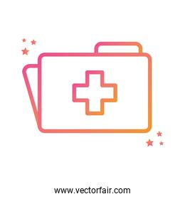 Isolated cross inside file gradient style icon vector design