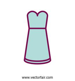Isolated dress line and fill style icon vector design
