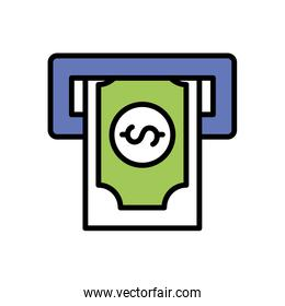 Isolated bill line and fill style icon vector design