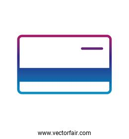 Isolated credit card gradient line style icon vector design