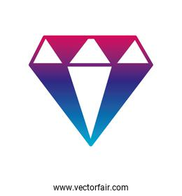 Isolated diamond gradient line style icon vector design