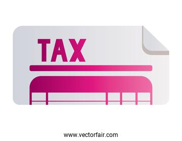 Isolated tax document vector design