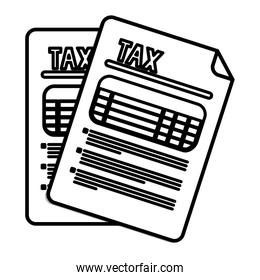 Isolated tax documents vector design