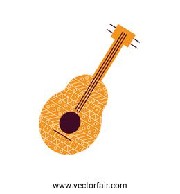 Isolated guitar instrument flat style icon vector design