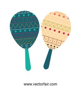Isolated maracas instrument flat style icon vector design