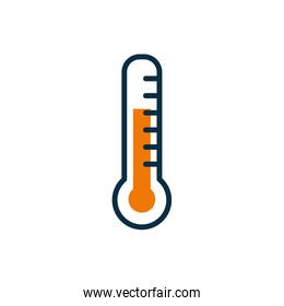 Isolated thermometer half line half color style icon vector design