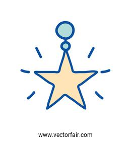 Isolated star line and fill style icon vector design