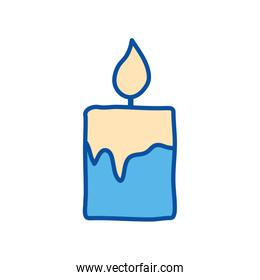 Isolated candle line and fill style icon vector design