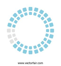 rectangles loading circle flat style icon vector design