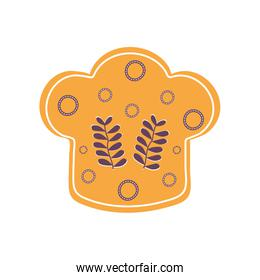 Isolated chefs hat flat style icon vector design