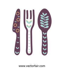 Isolated cutlery flat style icon vector design