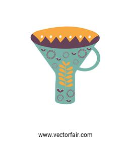 Isolated funnel flat style icon vector design
