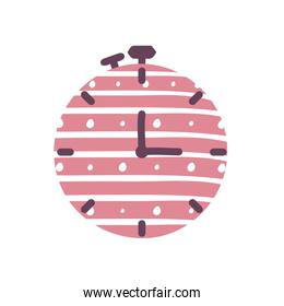 Isolated chronometer flat style icon vector design