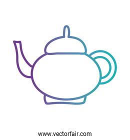 tea or coffee kettle gradient style icon vector design