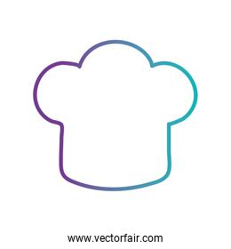 Isolated chefs hat gradient style icon vector design