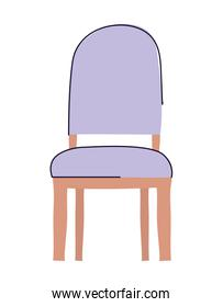 Isolated chair rest vector design