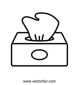 Isolated tissue box line style icon vector design