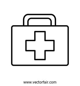 Isolated medical kit line style icon vector design