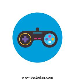 Isolated videogame control flat block style icon vector design