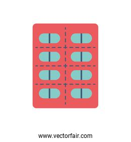 Isolated pills flat style icon vector design