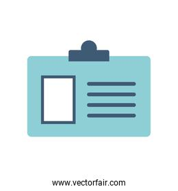 Isolated id card flat style icon vector design