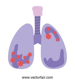 Lungs with covid 19 virus vector design