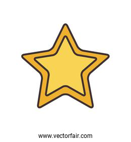 Isolated star line fill style icon vector design