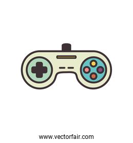 Isolated videogame control line fill style icon vector design