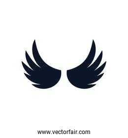 Isolated wings silhouette style icon vector design