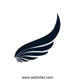 Isolated wing silhouette style icon vector design