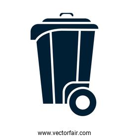 Isolated trash silhouette vector design