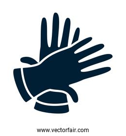 gloves silhouette style icon vector design