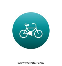 Isolated bike block gradient style icon vector design
