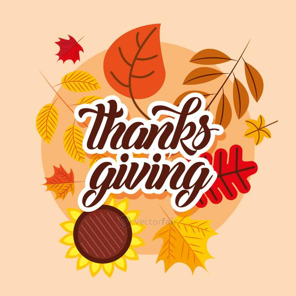 Happy thanksgiving day vector design