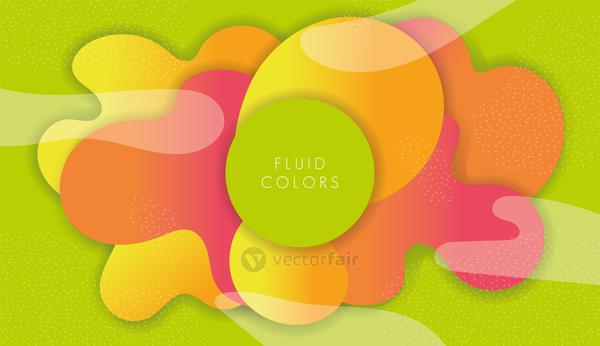 pink and green paint fluid colors background