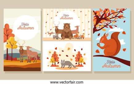 bundle of hello autumn season scenes